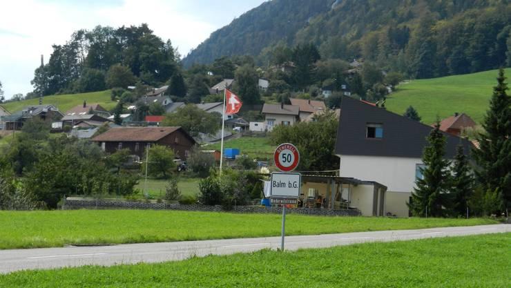 Blick auf Balm bei Günsberg.