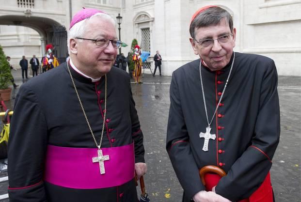 Kardinal Kurt Koch (rechts) im Gespräch  mit dem Bischof von St. Gallen Markus Büchel.