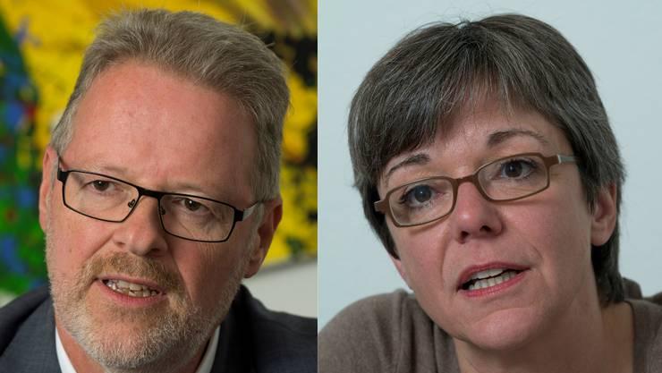 Hans Schwendeler RPB-Direktor und Regula Dell'Anno Stadträtin Baden (SP) setzen sich für die neue Strategie ein.