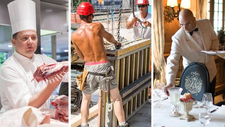 Köche, Bauarbeiter, Servicepersonal: In diesen und weiteren Berufen sollen Arbeitslose Vorrang haben, wenn Stellen zu besetzen sind.