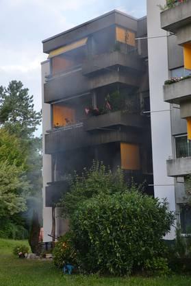 Die Fassade wurde beschädigt.