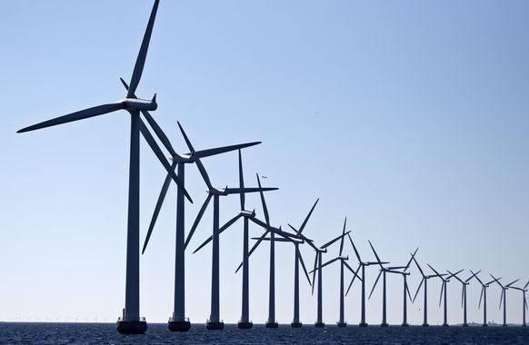 Albtraum der Windgegner: Eine Windfarm bei Kopenhagen.