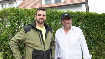 Manuel Meier (links) übernimmt die Andreas Meier Holding AG von Vater Andreas. Dieser will den Sohn aber weiterhin unterstützen