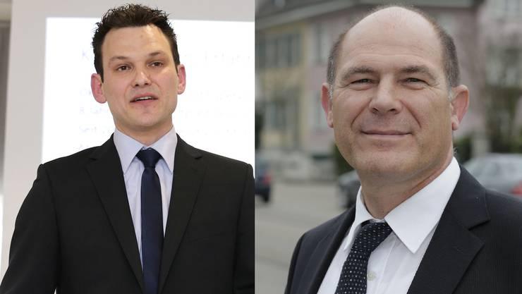 Mit Thomi Jourdan von der EVP (l.) und Anton Lauber von der CVP (r.) treten zwei Vertreter christlicher Parteien gegeneinander an. Spielt die Religion dabei eine Rolle?