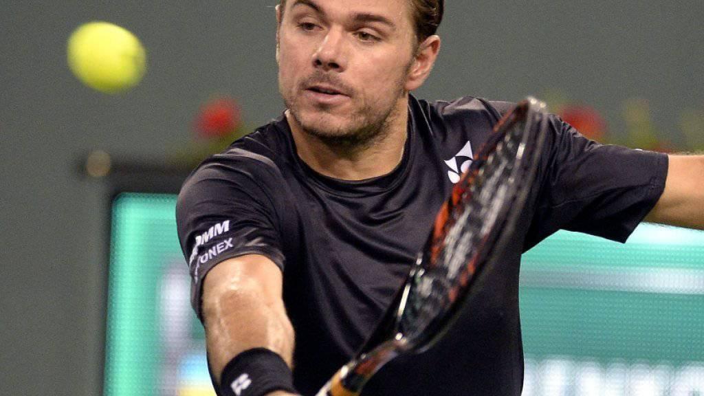 Wawrinka überzeugte bei seinem ersten Auftritt in Indian Wells