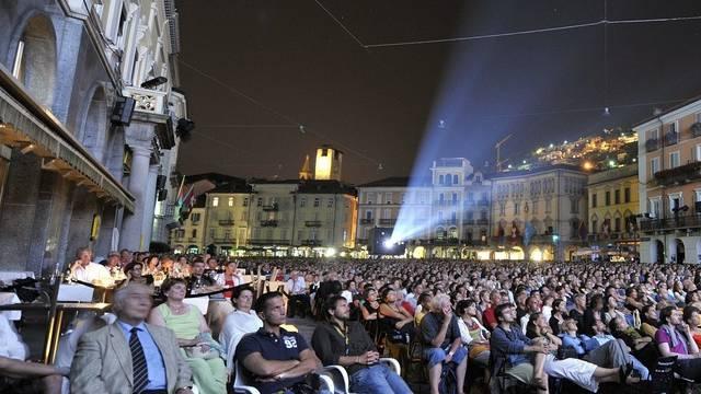 Filmspektakel auf der Piazza Grande in Locarno (Archiv)