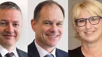 Die drei SP-Anwärter für den Oltner Stadtrat (von links): Thomas Marbet (bisher), Peter Schafer (bisher) und Marion Rauber (neu).