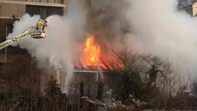 Grossbrand in Brugg zerstört Haus komplett