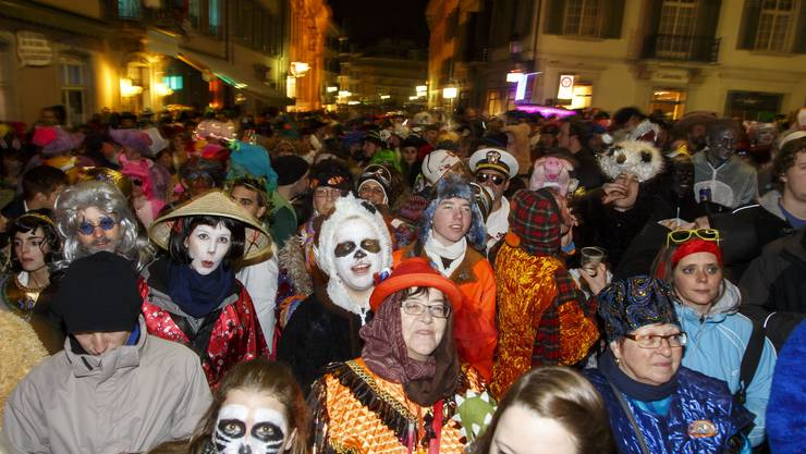 Strassenfasnacht in Solothurn - das Volksfest verging friedlich.