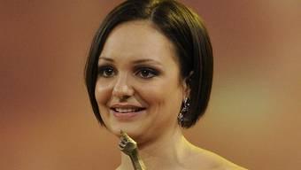 Sarah Meier, Sportlerin des Jahres 2011, läuft noch Eislauf-Galas, künftig wird sie sie vielleicht organisieren (Archiv)