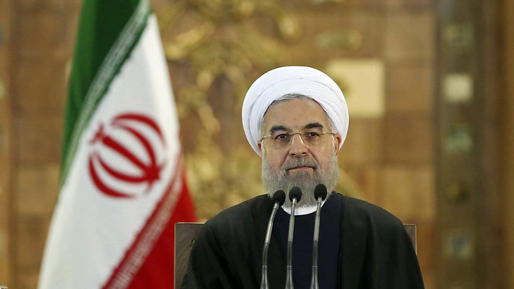 Der iranische Präsident Hassan Ruhani hofft auf eine Versöhnung mit Saudiarabien.