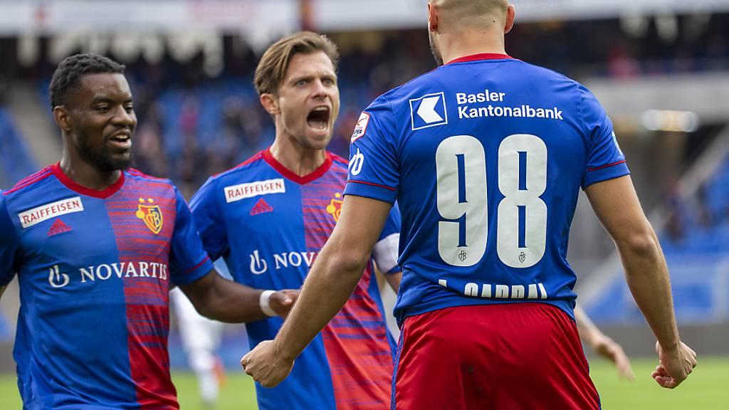 Valentin Stocker schreit seine Freude heraus