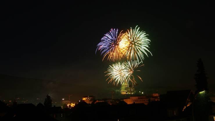 Da war es noch erlaubt:  1. August-Feuerwerk in Olten von 2013