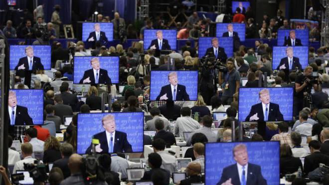 175 000 unterschiedliche Trump-Botschaften gezielt und individualisiert verbreitet: Big Data im US-Wahlkampf. Foto: Keystone/AP/John Locher
