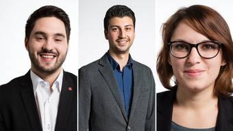 Cédric Wermuth (SP/AG), Fabian Molina (SP/ZH) und Mattea Meyer (SP/ZH) sehen im Steuer-AHV-Deal eine Falle für die Linke.