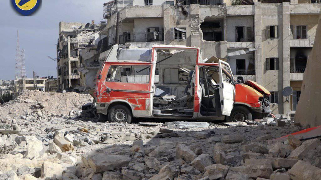 Pause für Aleppo: Russland und Syrien unterbrechen ihre Luftangriffe auf die umkämpfte Stadt. (Archiv)