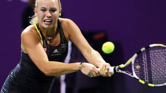 Caroline Wozniacki setzte sich gegen Francesca Schiavone durch