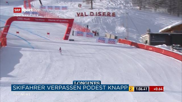 Schweizer verfehlen knapp Ski-Podest