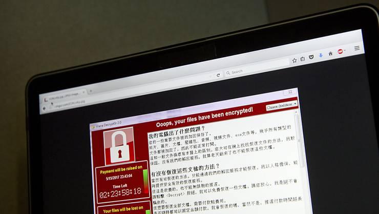 """Die Computer in Taiwan ist auch von """"WannaCry"""" befallen - einer zweiten Welle von Computer-Ausfällen kam es am Montag jedoch nicht."""