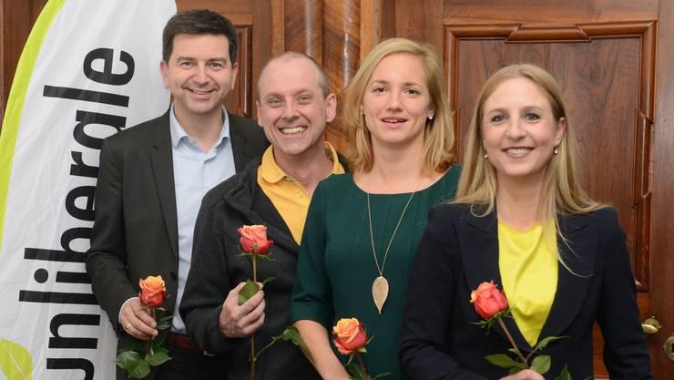 David Wüest, Dieter Burkhard, Esther Keller und Katja Christ wollen nach Bern