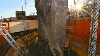 Sanierung Alte Brücke Holzbrücke Olten 02-2019
