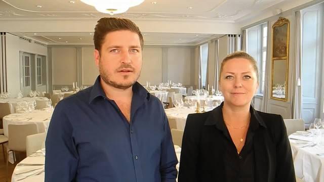 «Wir haben ein top-motiviertes Team und freuen uns sehr auf die neue Herausforderung»: «La Couronne»-Direktor Roman Oschwald und Hotelleiterin Simone Berchtold freuen sich auf die Eröffnung.