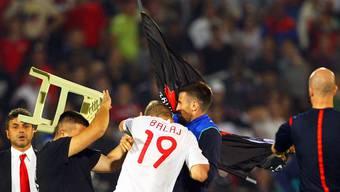 Die Partie zwischen Serbien und Albanien endete im Tumult.