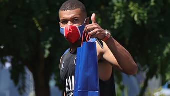 Hat sich angesteckt: Fussballstar Kylian Mbappe.