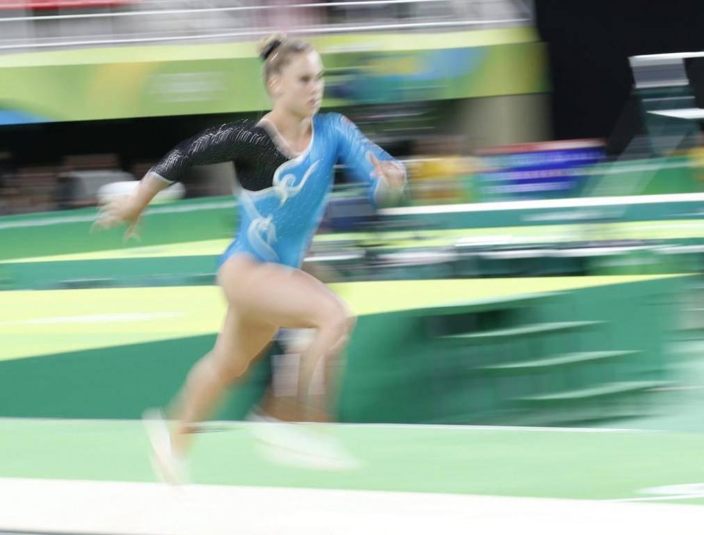 Am Sprung holte Giulia Steingruber diesen Sommer Bronze an den Olympischen Spielen (© Keystone)