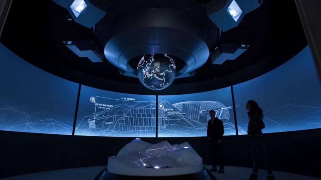 Magisch-futuristisch: Die Installation «007 Elements» in einem eigens in den Gaislachkogl ob Sölden hineingebauten Gebäude feiert am 12. Juli Eröffnung. (Pressebild)