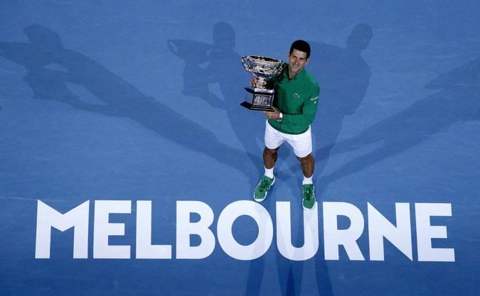 Bei den Australian Open gewann Novak Djokovic bisher acht Mal.