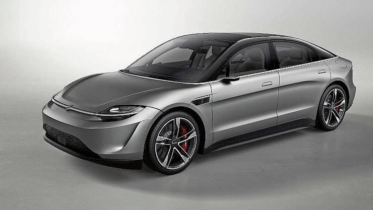 Sony überrascht mit dem Elektroauto «Vision-S», das bisher erst als Studie existiert.  Es soll aber bereits fahrtauglich sein.