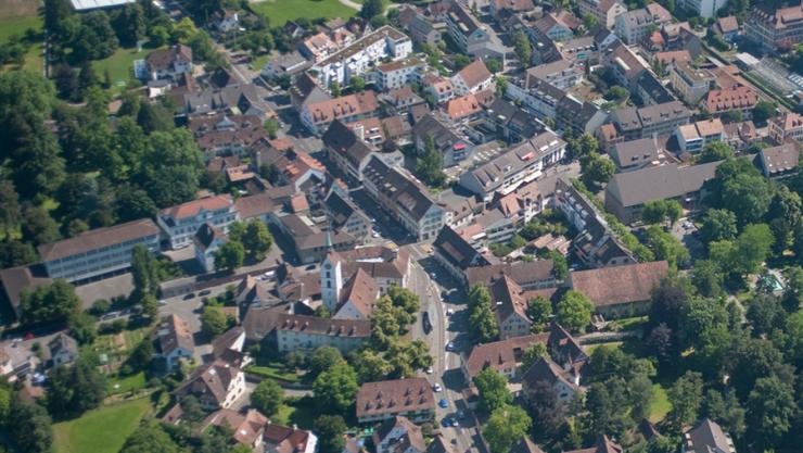 Der Dorfkern von Riehen.