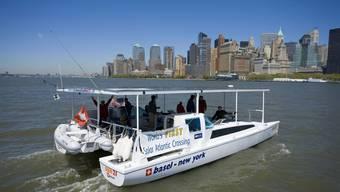 Das Solarboot sun21 - benannt nach dem Verein - erreichte am 8. Mai 2007 New York nach der Atlantiküberquerung. Es ist das erste ausschliesslich mit Sonnenenergie betriebene Boot.