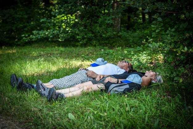 Müde Leserwanderer ruhen sich aus