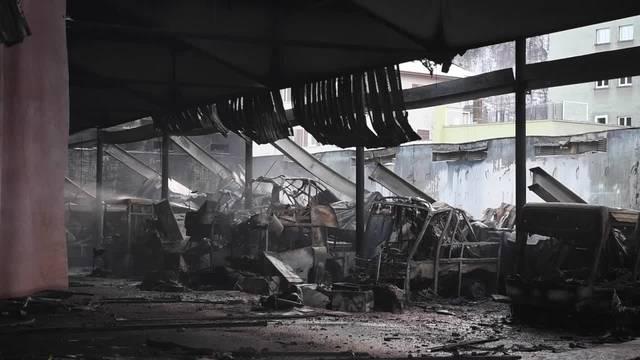 Neue Bilder von der Brandruine in Chur
