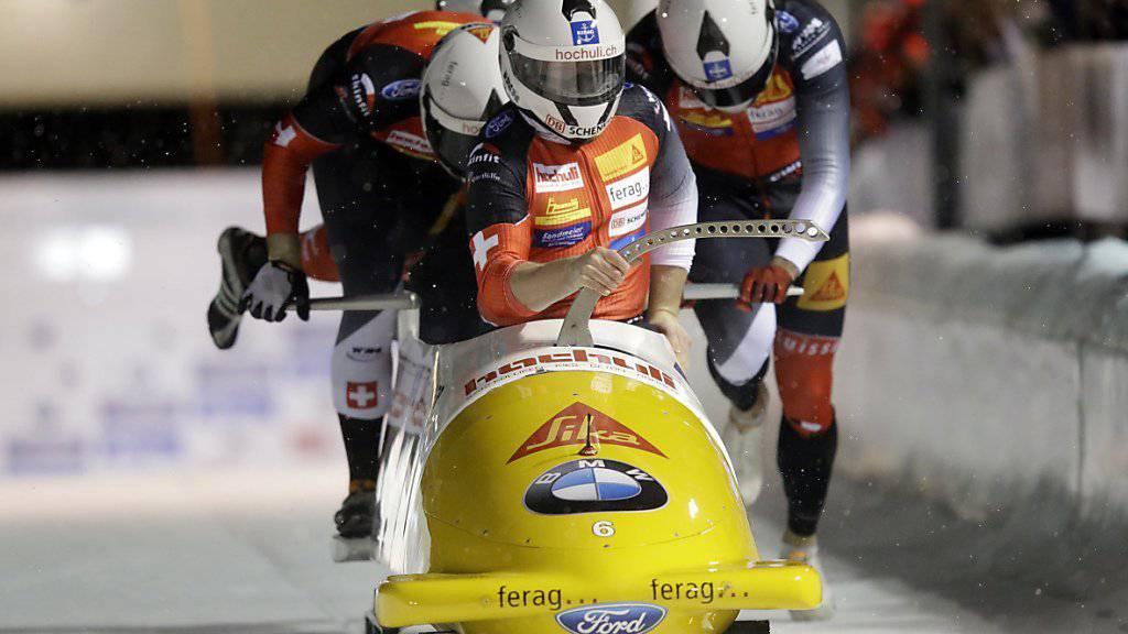 Auch im zweiten Rennen von Park City Dritter: der Schweizer Rico Peter und seine Crew