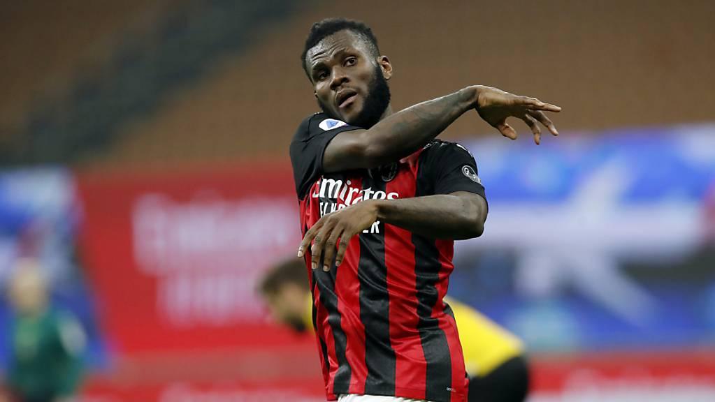 Freude sieht anders aus: Der «Jubel» von Torschütze Frank Kessié über das späte 1:1 gegen Udinese sagt alles  aus