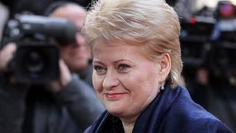 Die litauische Präsidentin, Dalia Grybauskaite (Archiv)