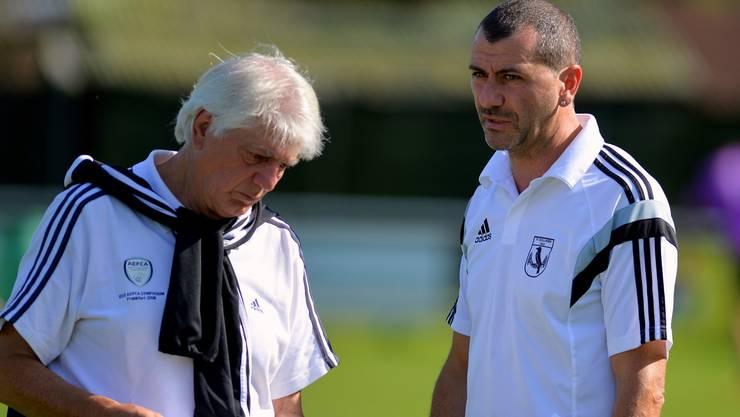 Trainer Willy Schmid (links) bereitet die Zusammenarbeit mit seinem Assisitenten Massimo Mingolla viel Spass.
