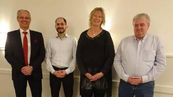 Von links Rainer Schmidlin, Marco Di Franco, Eveline Bläsi und Heinrich Ledergerber.