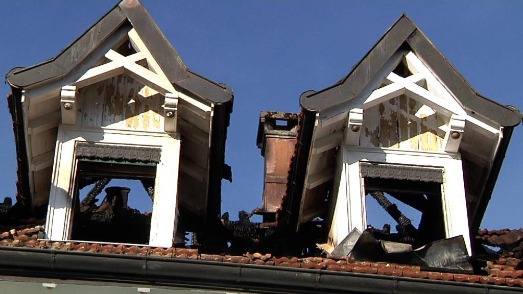 Brand in Arboner Mehrfamilienhaus