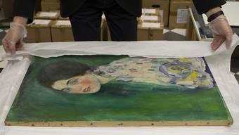 HANDOUT - Das Klimt-Gemälde «Bildnis einer Frau» ist 2019 überraschend wieder aufgetaucht. Foto: -/Galerie Ricci Oddi /dpa - ACHTUNG: Nur zur redaktionellen Verwendung im Zusammenhang mit einer Berichterstattung über die Ausstellung und nur mit vollständiger Nennung des vorstehenden Credits