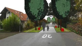 Kommt so wohl nicht: Visualisierung der Jurastrasse Süd nach der Sanierung. Der Kredit fürs Vorhaben wurde abgelehnt.