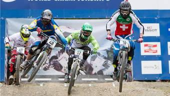 Fourcrosser Simon Waldburger (rechts) aus Hottwil.
