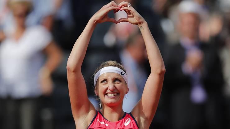 Timea Bacsinszky hat sich die Herzen der Zuschauer von Roland Garros gespielt.