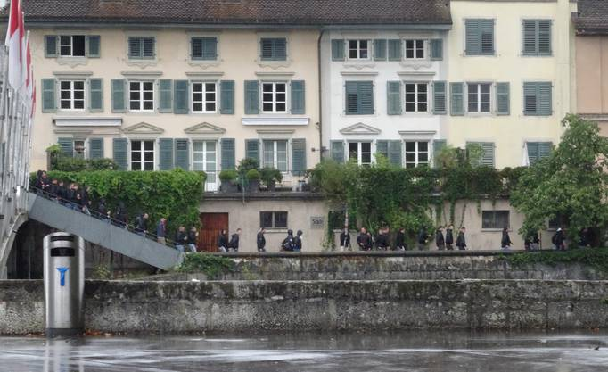 Thuner Fanmarsch durch Solothurn