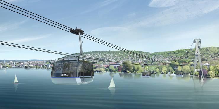 Ab in die Luft: Die ZKB will zur Feier ihres 150-Jahr-Jubiläums eine Seilbahn in Betrieb nehmen, die zwischen Landiwiese und Zürichhorn verkehrt.