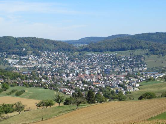 Der Blick auf Frenkendorf und Füllinsdorf