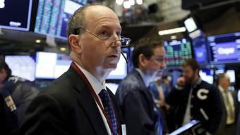 Aktienkurse im Sturzflug: Fassungslose Blicke an der New Yorker Börse.